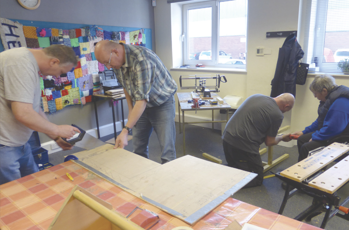 Headway Clients working with wood workshop