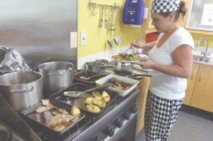 Headway Wellbeing in Kitchen